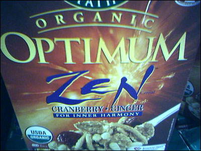 Optimum Zen Cereal.  No, really.